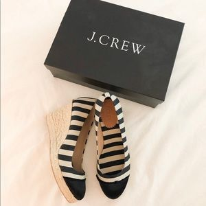 New With Box! Seville Stripe Espadrille Wedges
